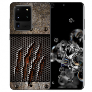 Samsung Galaxy S20 Ultra Silikon Hülle mit Bilddruck Monster-Kralle