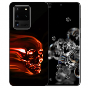 Samsung Galaxy S20 Ultra Silikon Hülle mit Totenschädel Bilddruck