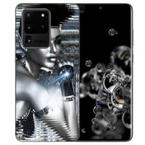 Samsung Galaxy S20 Ultra Silikon TPU Hülle mit Robot Girl Fotodruck