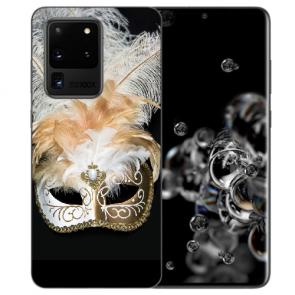 Samsung Galaxy S20 Ultra Silikon Hülle mit Bilddruck Venedig Maske