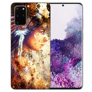 Samsung Galaxy S20 Plus TPU Hülle mit Bilddruck Indianerin Porträt