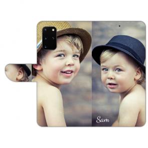Samsung Galaxy S20 Plus Handyhülle Tasche mit Bild Text Fotodruck