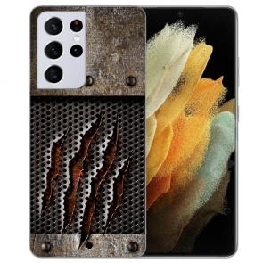 Samsung Galaxy S21 Ultra Silikon TPU Hülle mit Fotodruck Monster-Kralle