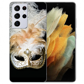 Samsung Galaxy S21 Ultra Silikon TPU Hülle mit Fotodruck Venedig Maske