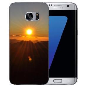 Samsung Galaxy S6 Edge Silikon Hülle mit Bilddruck Sonnenaufgang Etui