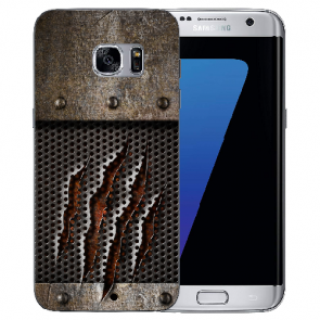 Samsung Galaxy S6 Edge Silikon Hülle mit Bilddruck Monster-Kralle