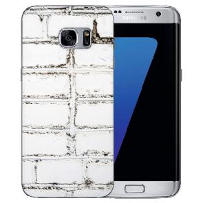 Samsung Galaxy S6 Edge Silikon TPU Hülle mit Bilddruck Weiße Mauer