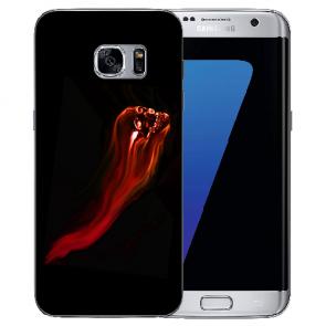 Samsung Galaxy S6 Edge Silikon Hülle mit Bilddruck Totenschädel