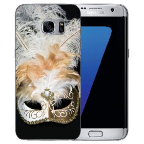 Samsung Galaxy S7 Edge Silikon TPU Hülle mit Venedig Maske Fotodruck