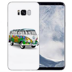 TPU Silikon Hülle mit Bilddruck Hippie Bus für Samsung Galaxy S8