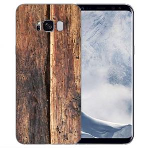 TPU Silikon Hülle mit Bilddruck HolzOptik für Samsung Galaxy S8