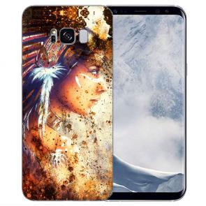 Samsung Galaxy S8 TPU-Silikonhülle mit Bilddruck Indianerin Porträt