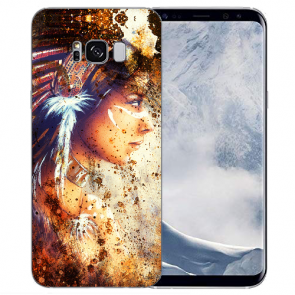 Samsung Galaxy S8 Plus TPU-Silikon mit Bilddruck Indianerin Porträt