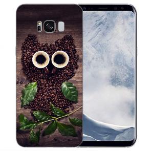 Samsung Galaxy S8 Plus TPU-Silikon mit Bilddruck Kaffee Eule Etui