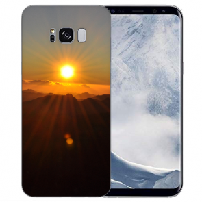 Samsung Galaxy S8 Plus TPU-Silikon mit Sonnenaufgang Bilddruck