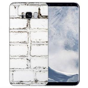 Samsung Galaxy S8 Plus 0,8mm TPU Silikon mit Weiße Mauer Bilddruck