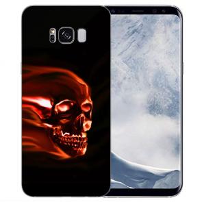 Samsung Galaxy S8 Plus TPU-Silikon mit Bilddruck Totenschädel