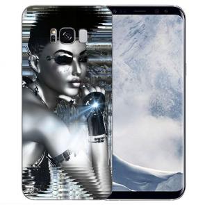 Samsung Galaxy S8 TPU Silikon Hülle mit Bilddruck Robot Girl Etui