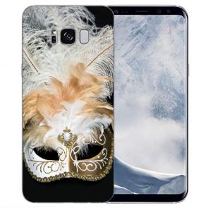 Samsung Galaxy S8 TPU Silikon Hülle mit Bilddruck Venedig Maske Etui