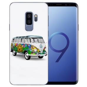 Samsung Galaxy S9 Plus TPU Silikon mit Hippie Bus Bilddruck