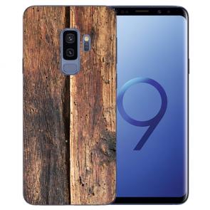 TPU Silikon mit HolzOptik Bilddruck für Samsung Galaxy S9 Plus