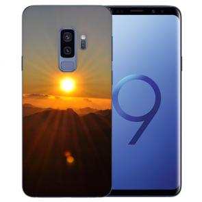 Samsung Galaxy S9 Plus TPU Silikon mit Sonnenaufgang Bilddruck