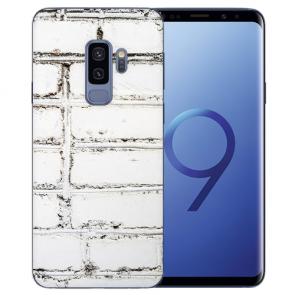 Samsung Galaxy S9 Plus TPU Silikon mit Bilddruck Weiße Mauer