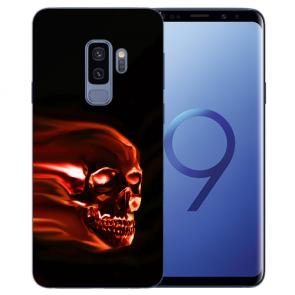 Samsung Galaxy S9 Plus TPU Silikon mit Totenschädel Bilddruck