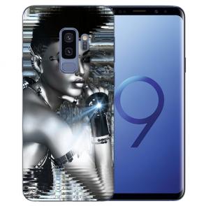 Samsung Galaxy S9 Plus TPU Silikon mit Robot Girl Bilddruck