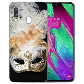 Samsung Galaxy A40 TPU Handy Hülle mit Bilddruck Venedig Maske