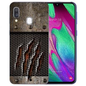Samsung Galaxy A40 Silikon TPU Handy Hülle mit Bilddruck Monster-Kralle
