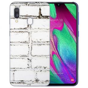 Samsung Galaxy A20 Schutzhülle Silikon TPU mit Bilddruck Weiße Mauer