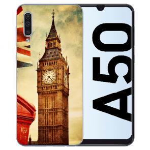 Silikon TPU Hülle für Samsung Galaxy A50s mit Big Ben London Bilddruck
