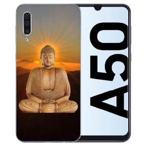 Silikon Hülle für Samsung Galaxy A50s mit Bilddruck Frieden buddha