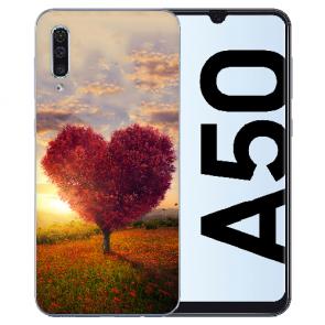 Silikon TPU Hülle für Samsung Galaxy A50s mit Bilddruck Herzbaum