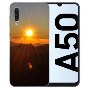 Silikon TPU Hülle mit Fotodruck Sonnenaufgang für Samsung Galaxy A50s