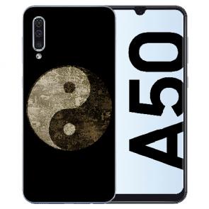 Silikon TPU Hülle für Samsung Galaxy A50s mit Bilddruck Yin Yang