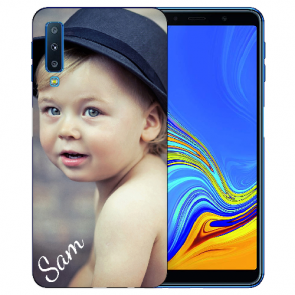 Samsung Galaxy A7 (2018) Silikon TPU Case Schutzhülle mit Foto Druck
