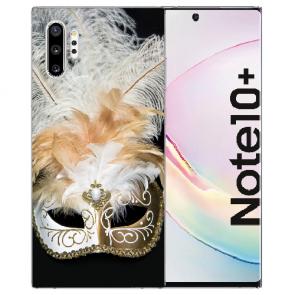 Samsung Galaxy Note 10 + Silikon Hülle mit Fotodruck Venedig Maske