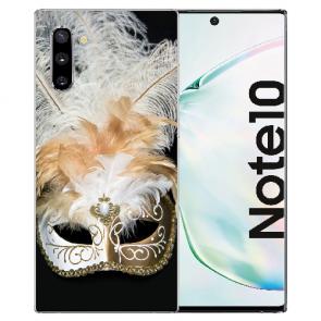 Samsung Galaxy Note 10 Silikonhülle mit Fotodruck Venedig Maske