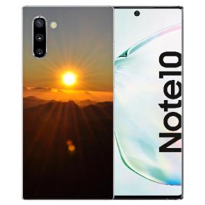 Samsung Galaxy Note 10 Silikon TPU Hülle mit Fotodruck Sonnenaufgang