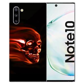 Samsung Galaxy Note 10 Silikonhülle TPU mit Fotodruck Totenschädel