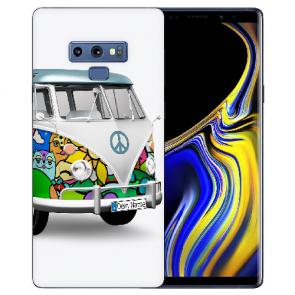 Samsung Galaxy Note 9 Silikon TPU Hülle mit Bilddruck Hippie Bus
