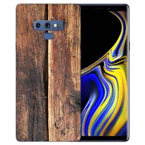 Samsung Galaxy Note 9 Silikon TPU Hülle mit Bilddruck HolzOptik