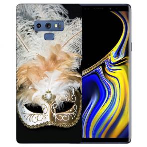 Samsung Galaxy Note 9 Silikon Hülle mit Bilddruck Venedig Maske