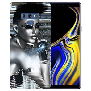 Samsung Galaxy Note 9 Silikon TPU Hülle mit Bilddruck Robot Girl