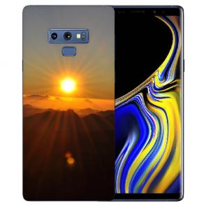 Samsung Galaxy Note 9 Silikon Hülle mit Bilddruck Sonnenaufgang