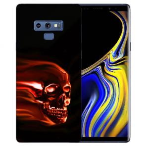Samsung Galaxy Note 9 Silikon TPU Hülle mit Bilddruck Totenschädel