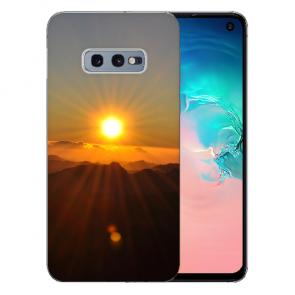Samsung Galaxy S10e Silikon TPU Hülle mit Fotodruck Sonnenaufgang