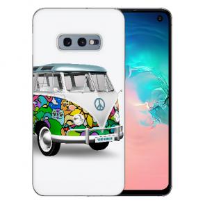 Samsung Galaxy S10e Silikon TPU Hülle mit Fotodruck Hippie Bus